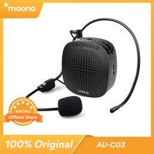 Maono amplificador de voz mini recarregável pa sistema (1020 mah) com microfone com fio para professores apresentações treinadores guias turísticos