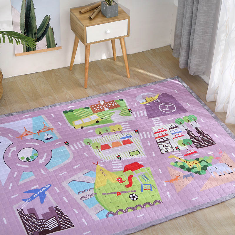 Baby Playmat Carpet Developing Activity Mat Cartoon Thick Carpets Multifunction Infant Crawling Pad Accessories BXX033
