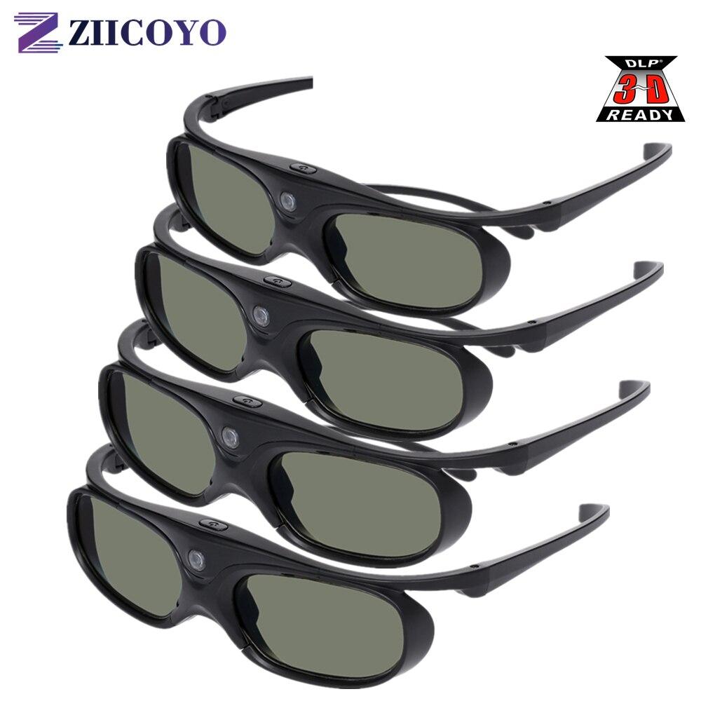 Активный затвор DLP Link 3D очки совместимые 96-144 Гц с Optama /Acer/BenQ /ViewSonic/XGIMI DLP Link Проекторы DLP 3D готовые