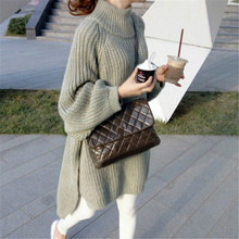 Fall and Winter New Fashion Leisure Pullovers Loose Pure Colored Knitted Sweaters