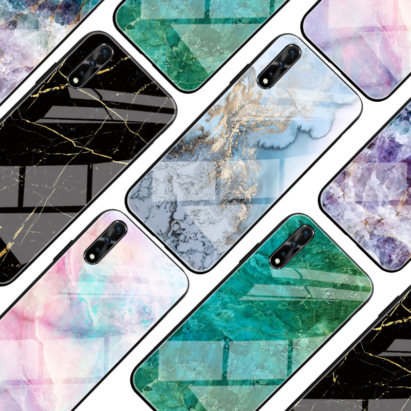 Marble Glass Case For Vivo V17 Neo S1 India Z5X Case Soft TPU Coque Back Cover For Vivo IQOO Neo Pro 5G