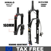 Air-Fork Mtb-Suspension Rebound Straight-Tube Quick-Release HIMALO 29er Tapered QR Travel-160mm-26