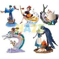 5pc/set Hayao Miyazaki Totoro Kiki's Delivery Service Spirited Away Actiion Figure Model Toy Collection Anime Figure Toys Doll