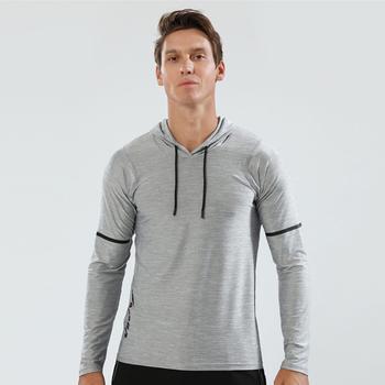 Jesień kurtka do biegania mężczyźni bluzy sportowa koszula z długim rękawem obcisła odzież sportowa Skinny bluzy odzież sportowa męska odzież sportowa tanie i dobre opinie JUNJIAN Poliester spandex Anty-pilling Anti-shrink Oddychające Szybkie suche Z kapturem Bieganie Pasuje mniejszy niż zwykle proszę sprawdzić ten sklep jest dobór informacji
