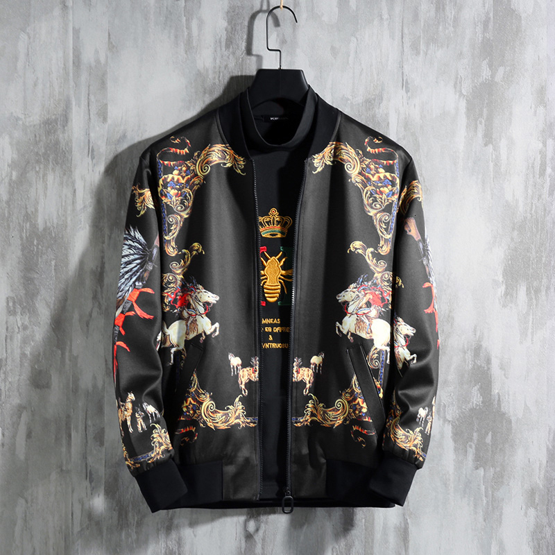 Jaqueta Masculina Autumn Plus Size 7xl Dragon Print Vintage Jacket Coa Chaquetas Hombre Streetwear Bomber Jacket Mens Jacketst
