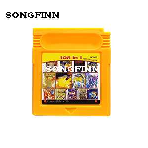 2 Colors 108 in 1 MC007 100% Saving OK Memory card for 16 bit color console English language