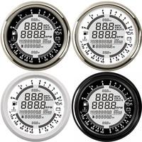 85mm 12V gps tachometer 9 in 1Multifunction gauge boat oil Pressure Gauge 10 Bar speedometer boat tacometro rpm meter moto