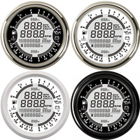 85mm 12V gps tachometer 9 in 1Multifunction gauge boat oil Pressure Gauge 10 Bar speedometer boat tacometro rpm meter moto