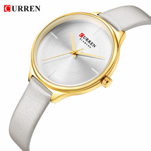 CURREN Top Brand Womens Watches Casual Luxury Quartz Simple Watch Women Leather Strap Ultra Thin Dial Clock Relogio Masculino dom women watches dom brand luxury new casual waterproof leather dress quartz watch mesh strap clock relogio faminino g 36gk 1ms