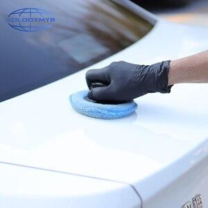 Image 5 - Volodymyr 왁스 패드 키트 3pcs 13cm 패드 세트 옐로우 블루와 화이트 포함 자동 케어 자세히 왁싱 자동차 청소 Carwash