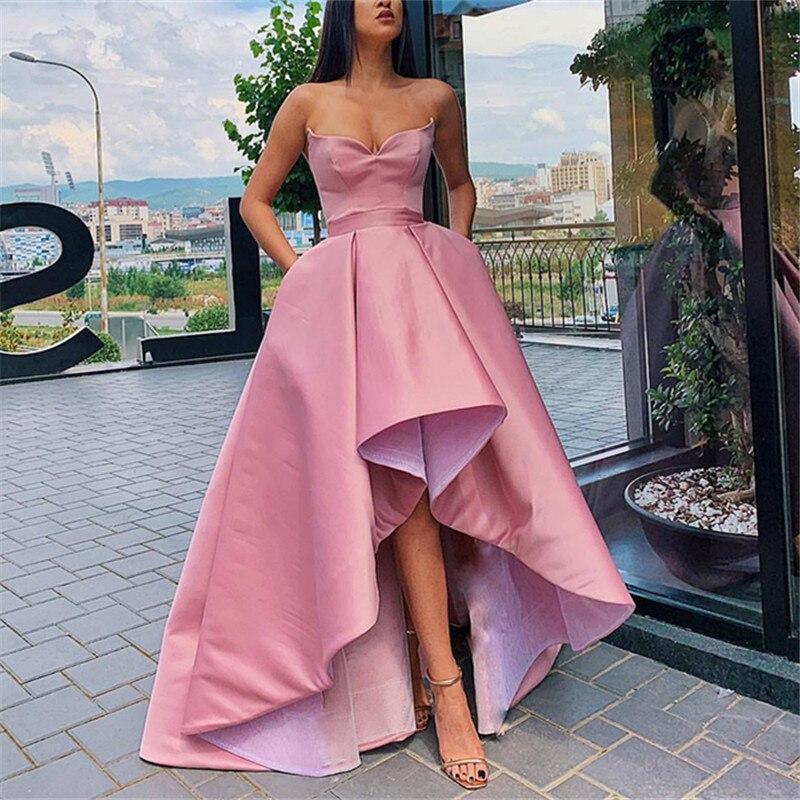 Robe De Soiree Satin   Prom     Dresses   2020 Long Train Vestidos De Gala Spaghetti Straps   Prom   Gown