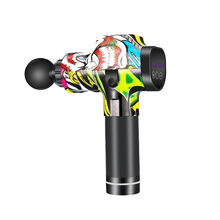 Colorful Massage Gun Physiotherapy Instrument Mute Touch Screen Fascia Gun Massager Guns Electric Muscle Massage Pain Relief