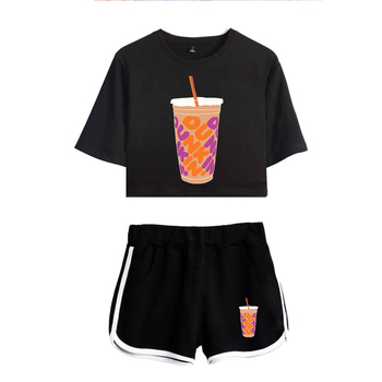 Nieuwe Charli Damelio Ijs Koffie Ploetert Vrouwen Tweedelige Set Shorts + Mooie T-shirt Sexy Charli Damelio Merch Sport Pak 1