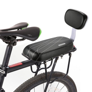 Bicycle Back Seat Bicycle Child Seat Cover Bike Rack Rest Cushion With Back Saddle Cycle Accessories Parts Bicycle PU Leather(China)
