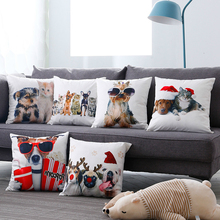 Hot Sale Digital Printing Animal Cushion Cover suede Pillow Case  Office Automobile Set Sofa Slipcover