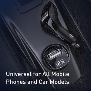 Image 4 - Baseus جهاز إرسال موجات FM للسيارة بلوتوث 5.0 راديو FM المغير عدة السيارة المزدوجة USB شاحن سيارة يدوي لاسلكي Aux الصوت مشغل MP3