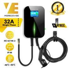 32A 1 Fase Evse Wallbox Ev Charger Elektrische Voertuig Opladen Station Met Type 2 Kabel Iec 62196-2 Voor audi Mini Cooper Smart