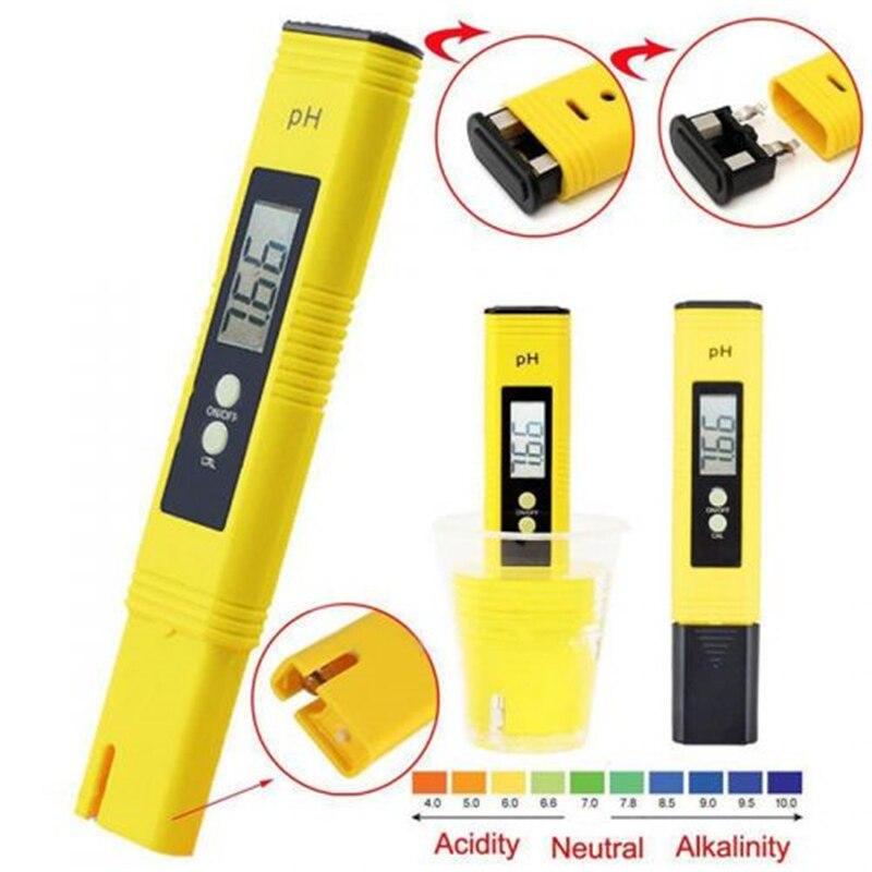 Portable LCD Digital PH Meter Pen Tester High Accuracy Aquarium Pool Water Wine Urine Automatic Calibration PH Monitor