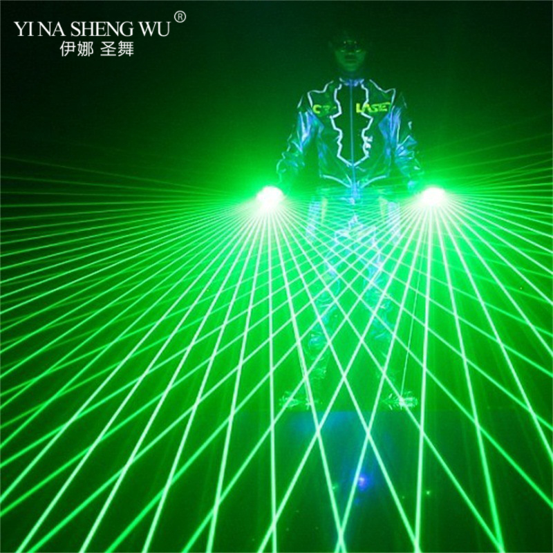 (3Green+1Red) Laser Gloves High Quality Bars Nightclubs Stage Performances Fuorescent Props Music Festival LED Luminous Gloves