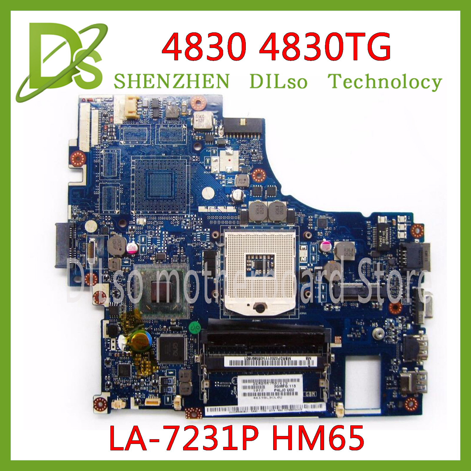 KEFU LA-7231P motherboard <font><b>ACER</b></font> Aspire 4830 <font><b>4830TG</b></font> Laptop Motherboard LA-7231P HM65 DDR3 100% Tested ORIGINAL image
