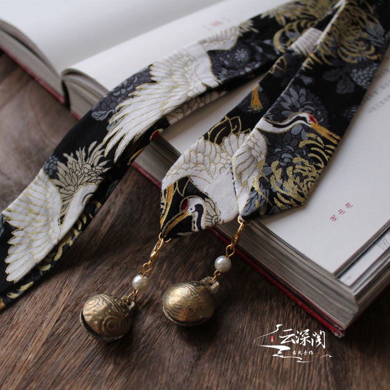 Copper Bell Handsome Dragon Pattern Men And Women Clothing Wiping Ancient Wind Hair Band Hanfu Tassel Hair Band