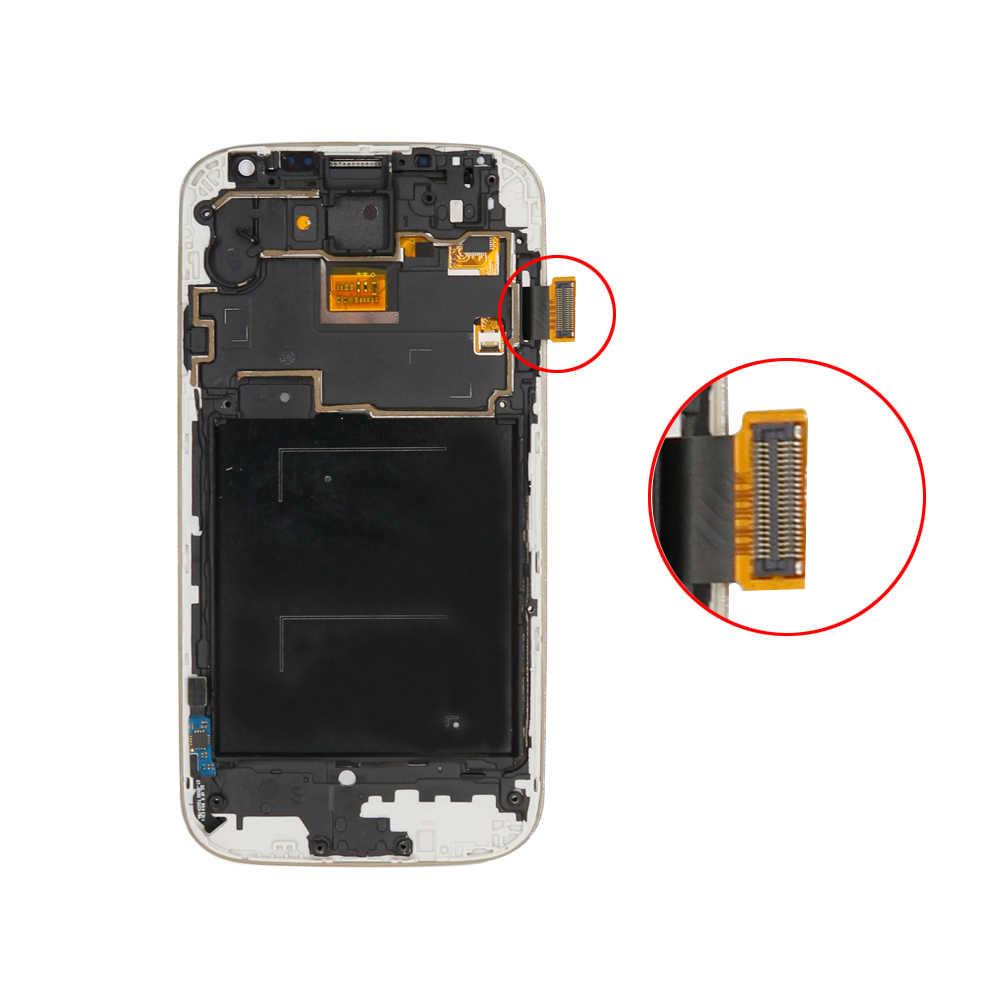 لسامسونج S4 GT-i9505 i9500 i9505 i9506 i9515 i337 شاشة الكريستال السائل لوحة شاشة لمس محول الأرقام + الإطار الجمعية إصلاح Tela أجزاء