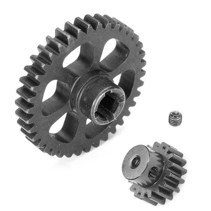 Upgrade Part Metal Reduction Gear + Motor Gear Spare Parts for Wltoys A949 A959 A969 A979 K929 RC Car Remote Control Toy Parts