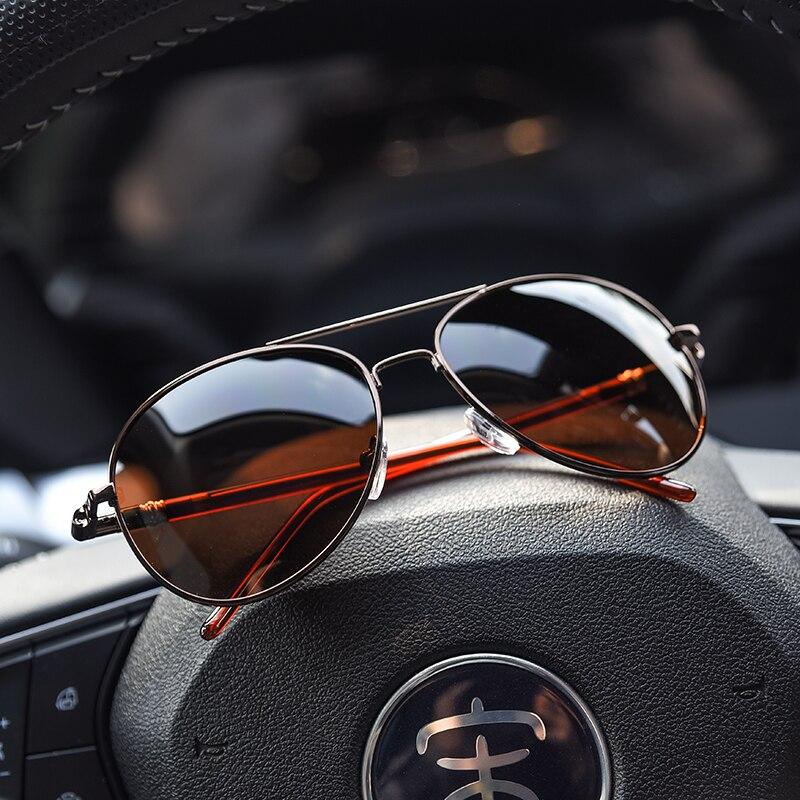 Aviation Metail Frame Quality Spring Leg Alloy Men Driving Sunglasses Polarized Brand Design Pilot Male Sun Glasses Oversized