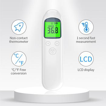 Pistolet termometr na podczerwień bezdotykowy pomiar czoło LCD cyfrowy miernik temperatury ciała podświetlenie dla dorosłych gorączka dziecka tanie i dobre opinie LIERDOCT CHINA TERMOMETRY XL-F03 Infrared Thermometer Forehead Baby and Adult 2 x AAA Alkaline Batteries 1 Second 0 1 ℃