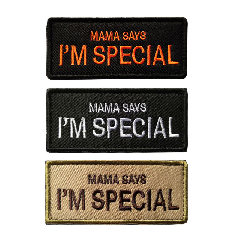 embroidered patch mama says Im special patch funny BIKER Velcro motorcycles tactical patches army airsoft outdoor custom