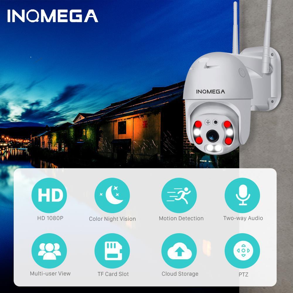 INQMEGA 1080P Cloud Storage Wireless PTZ IP Camera 4X Digital Zoom Speed Dome Camera Outdoor WIFI Audio P2P CCTV Surveillance