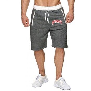 Backwoods Summer Men Gyms Shorts Fashion Brand Letter Printed Joggers Men's Beach Sweatpants  Cargo