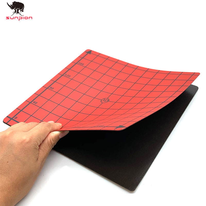 lowest price 2020 New Magnetic Print Bed Tape square 220 220mm Coordinate Printed sticker Build Plate Tape FlexPlate PLA DIY 3D Printer parts