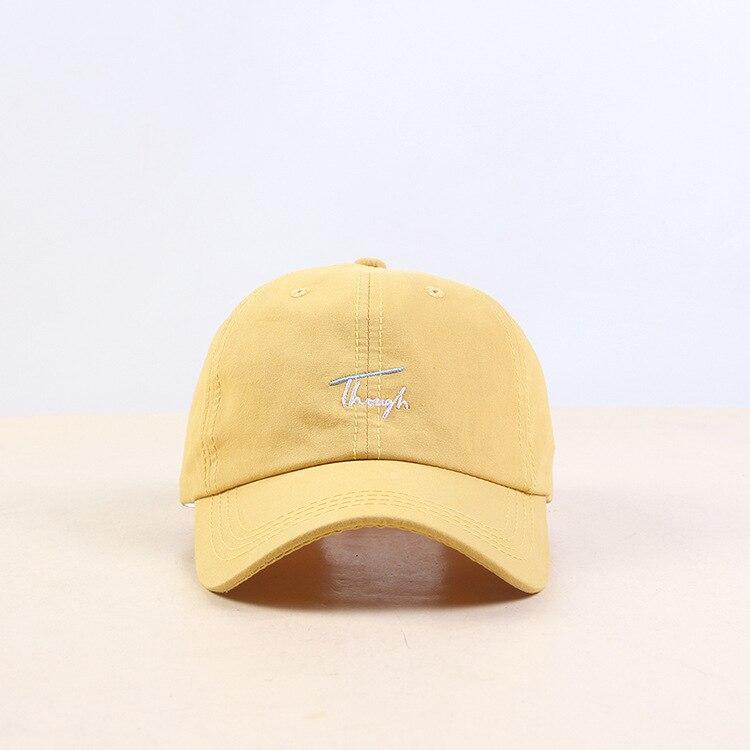 Хип Хоп Регулируемый Дальнобойщик Кепка папа летняя шляпа вышивка хлопок буквы бейсболки женские мужские унисекс Snapback - Цвет: Color   1