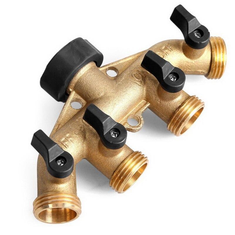 3//4 /'/' 2//4 Way Garden Water Tap Adapte Valve Splitter Hose Pipe Tap Connector