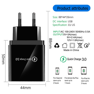 Image 3 - Usb 충전기 빠른 충전 3.0 빠른 충전기 qc 4.0 아이폰 7 xr x에 대 한 벽 휴대 전화 충전기 삼성 xiaomi eu/us 플러그 어댑터
