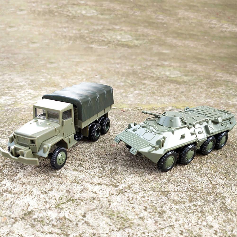 2 шт./компл. 1/72 M35 грузовик BTR-80 кавалерия модель перевозчика DIY сборка ремесло детская игрушка модель Военная игрушка автомобиль подарки