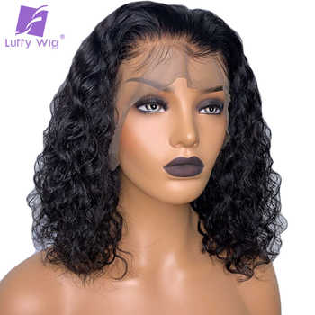 13x6 Lace Front Wig Deep Curly PrePlucked Bleached Knots Remy Brazilian Short Human Hair Wigs Natural Color For Women LUFFY - DISCOUNT ITEM  38% OFF All Category