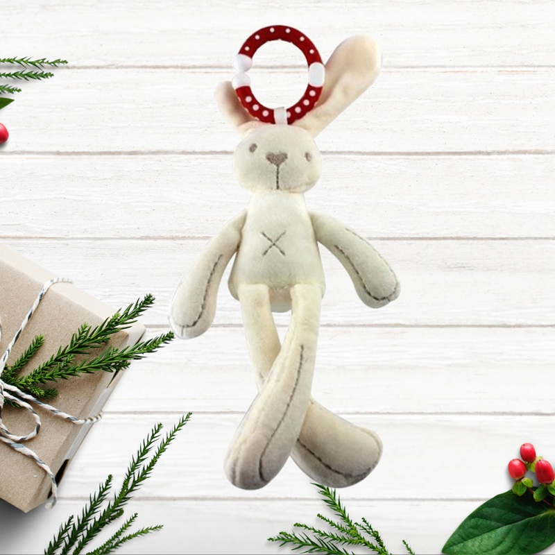 Cute Baby Crib Stroller Toy Rabbit Bunny Bear Soft Plush Infant Doll Mobile Bed Pram Kid Animal Hanging Ring Baby Rattles