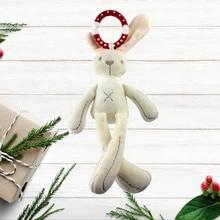 цены Cute Baby Crib Stroller Toy Rabbit Bunny Bear Soft Plush Infant Doll Mobile Bed Pram Kid Animal Hanging Ring Baby Rattles