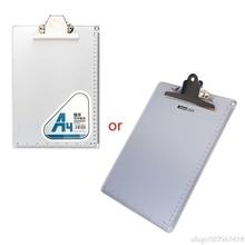 Ruler Clip-Board Paper-Holder School-Supplies Office Aluminum-Alloy Writing Antislip-File