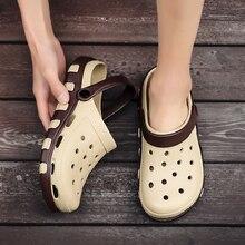 2020 Men Clogs Sandals Fashion Summer Shoes Men Casual Flip Flops Men Sandals Light Beach Shoes Shoe