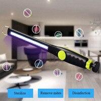 Indoor Mini UVC sterilization purple light disinfection lamp spot USB mobile hand held charging UV sterilization lamp