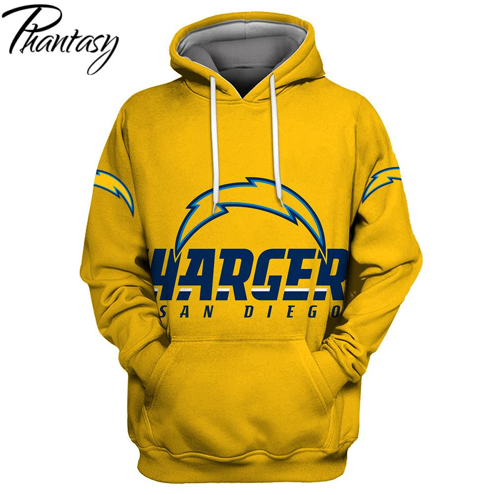Phantasy 2020 San Diego Chargers 3D Printed Hooded Sweatshirt Hoodie Men/Women Fashion Pullover Hoodies