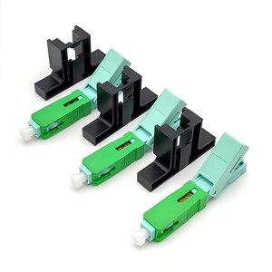 FTTH APC, fibra óptica de modo único, SC APC, Conector de montaje rápido de campo para Cable de caída