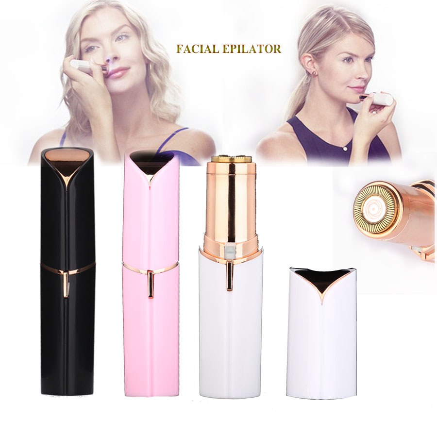Facial Epilator  Painless Instant Hair Removal Mini Lipstick Shaver For Woman Lip Cheeks Mouth Hair