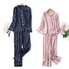 Sleepwear trouser suits Sexy satin 2 pieces summer Home suit pajamas for women 2021 Robes underwear Set Women