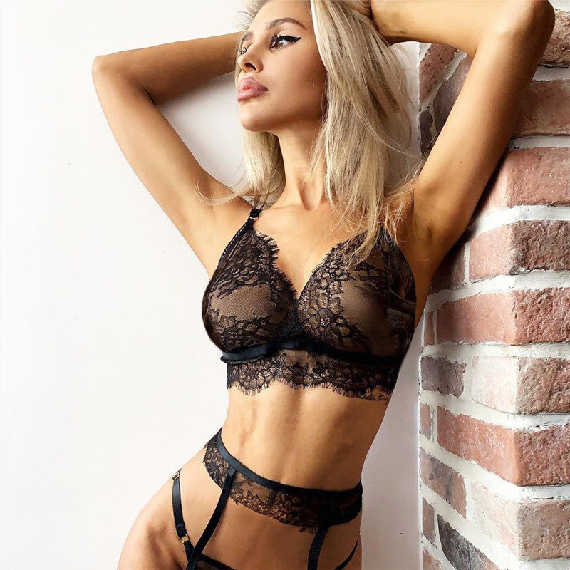 Hot <font><b>Women</b></font> <font><b>Sexy</b></font> <font><b>Lingerie</b></font> <font><b>Babydoll</b></font> <font><b>Lace</b></font> Bra Set G-string Panty Underwear Nightwear image