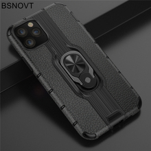 купить For Apple iPhone 11 Pro Case TPU+PC Finger Holder Hard PC Bumper Case For iPhone 11 Pro Cover For iPhone 11 Pro 5.8 inch BSNOVT по цене 180.41 рублей