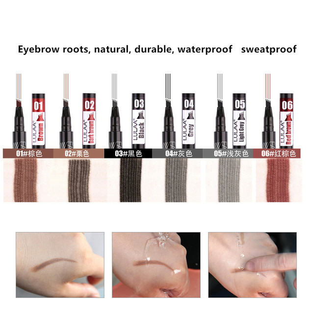 6 tint dye Waterproof  eyebrow pencil eyebrow shadow for eyebrows  makeup Waterproof Long Lasting  Sketch Liquid eyebrow wax 2
